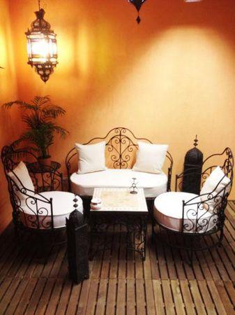 Moroccan Iron Sofa Andalous - White – image 5