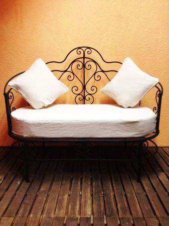 Moroccan Iron Sofa Andalous - White – image 1