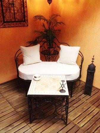 Moroccan Iron Sofa Andalous - White – image 4