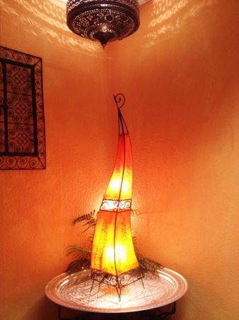 Floor Lamp Rahaf orange 120cm – image 4