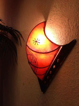 Oriental Wall Lamp Furat Orange – image 3