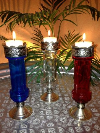 Oriental Candle Stand Mogador - Blue – image 5
