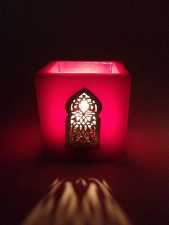 Lantern Defne Red 7cm – image 1