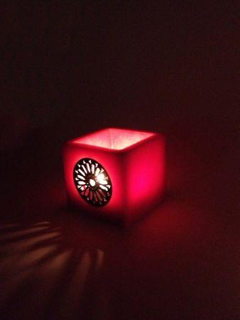 Lantern Defne orange 10cm – image 1