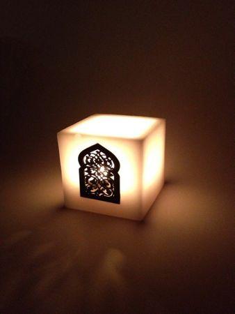 Lantern Defne white 10cm – image 1