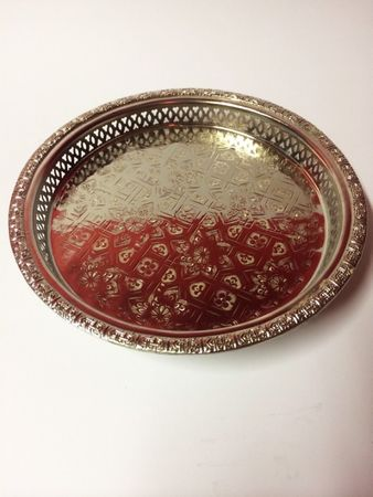 Oriental Tray Nadia - Silver, 32cm – image 2