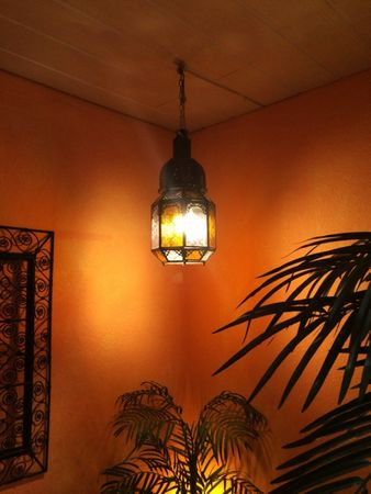 Oriental Ceiling Lamp Haifa Orange / Clear – image 2