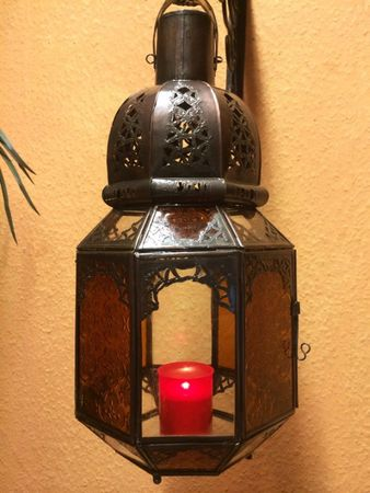 Oriental Ceiling Lamp Haifa Orange / Clear – image 5