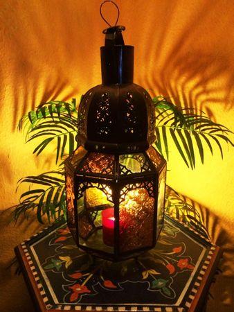 Mediterranean Lantern Haifa Yellow/Clear 40cm – image 1