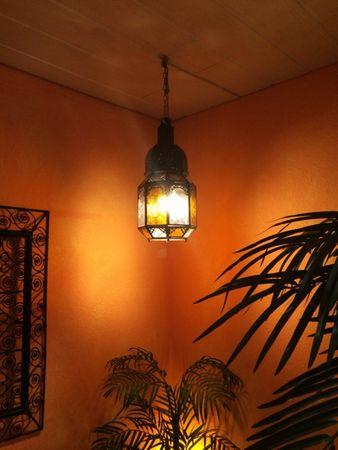 Mediterranean Lantern Haifa Yellow/Clear 40cm – image 5