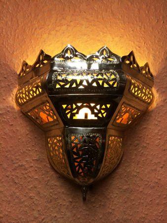 Oriental brass Wall Lamp Afrah – image 1