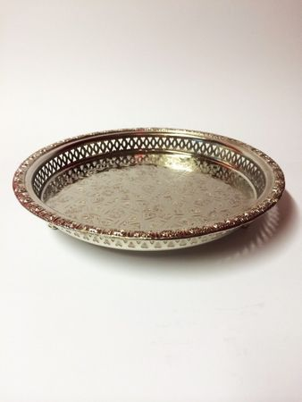 Oriental Tray Nadia - Silver, 27cm – image 1
