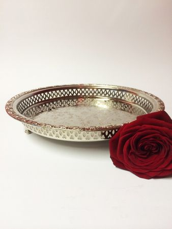 Oriental Tray Nadia - Silver, 27cm – image 3