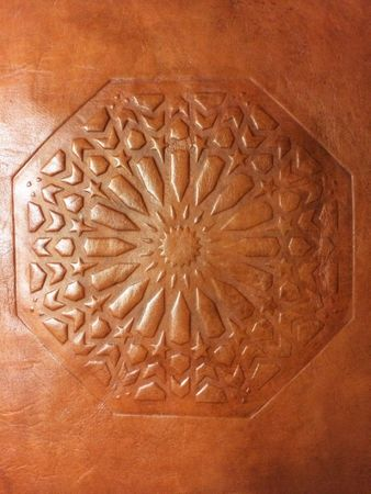Moroccan Leather Seat Cushion Shey - Brown – image 3
