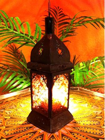 Moroccan Lantern Talba orange