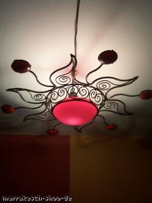 Moroccan Ceiling Lamp Soleil Red – image 1