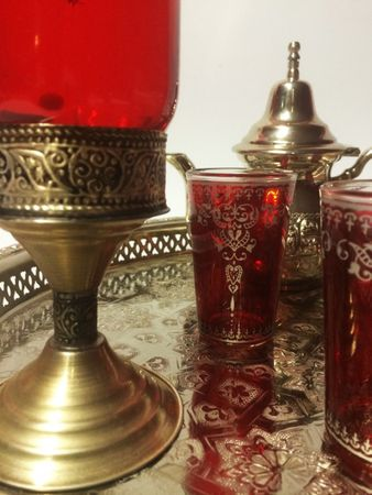 Moroccan Candle Stand Asli - Red – image 4