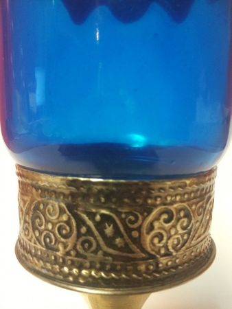 Moroccan Candle Stand Asli - Blue – image 3