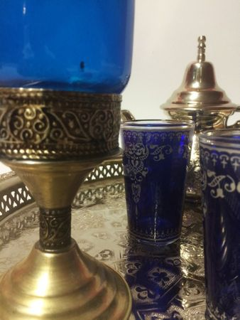 Moroccan Candle Stand Asli - Blue – image 4