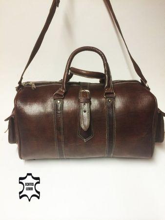 Moroccan Leather Traveling Bag Viajar - Brown – image 2