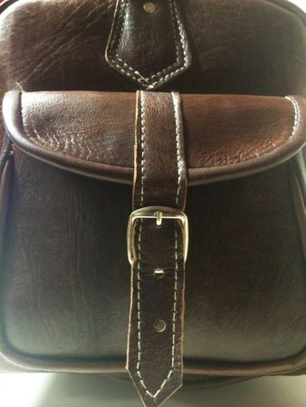 Moroccan Leather Traveling Bag Viajar - Brown – image 5
