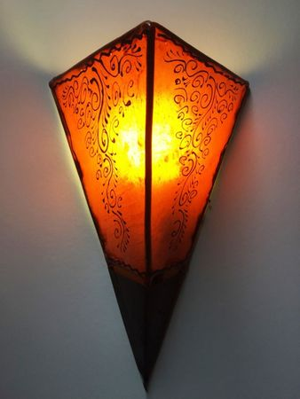 Oriental Wall Lamp Eshe Orange – image 1