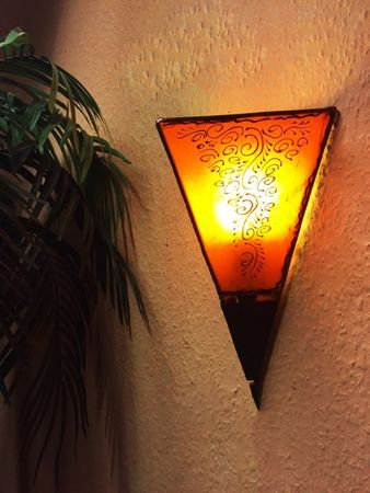 Oriental Wall Lamp Eshe Orange – image 3