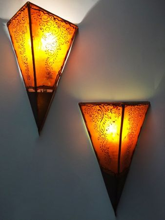 Oriental Wall Lamp Eshe Orange – image 5