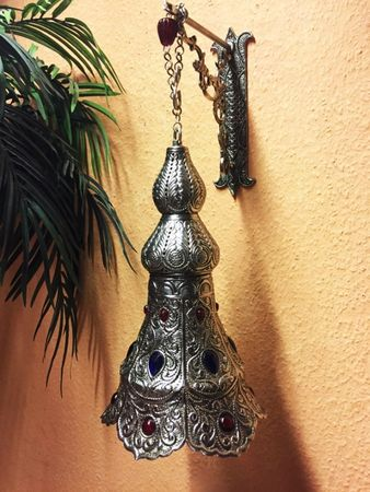 Indian Silver Lamp Ilgin - Silver – image 5