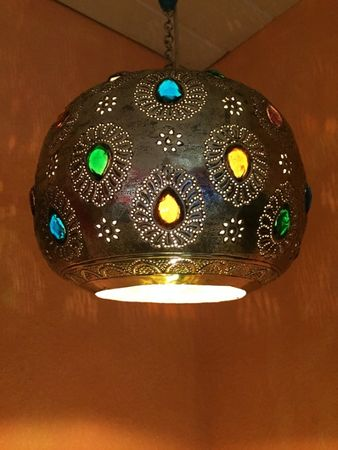 Indian Lamp Ishraq - Silver colored – image 2