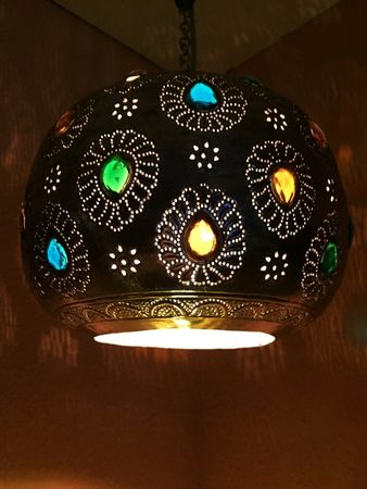 Indian Lamp Ishraq - Silver colored – image 3