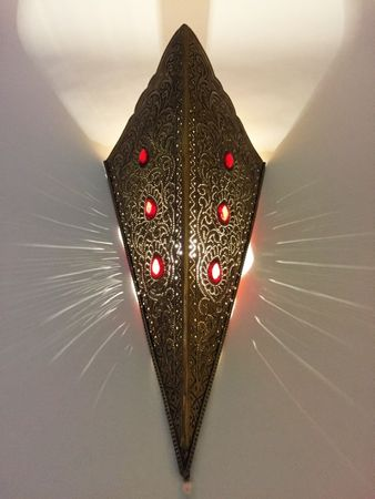 Oriental Brass Wall Lamp Humairah - Gold – image 5