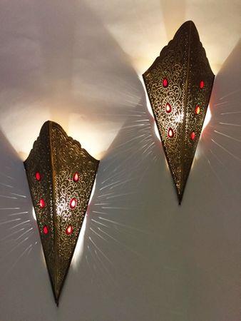Oriental Brass Wall Lamp Humairah - Gold – image 7