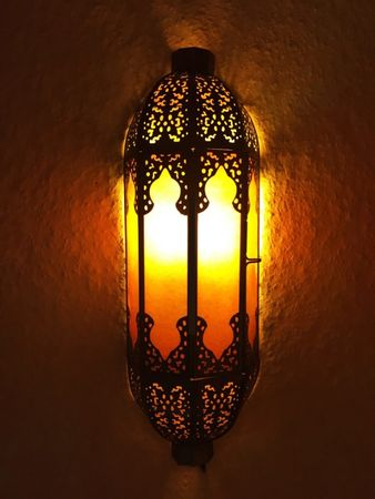 Indian Wall Light Elanur - Orange – image 1