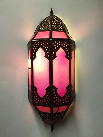 Oriental Wall Light Asha - Pink – image 1