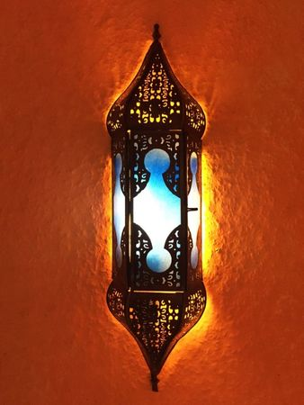 Oriental Wall Light Appsara - Blue – image 1