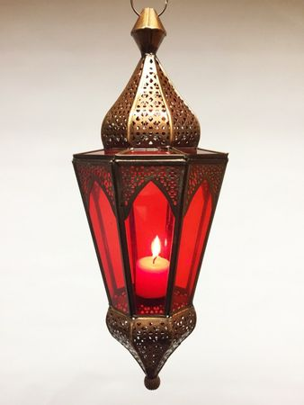 Indian Hanging Lantern Lalita - Red – image 1