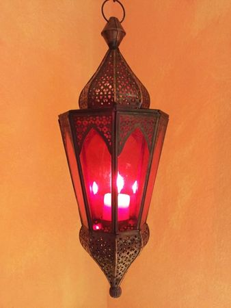Indian Hanging Lantern Lalita - Red – image 5