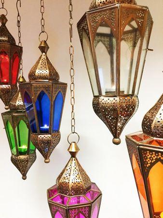Oriental Hanging Lantern Lalita - Blue – image 4