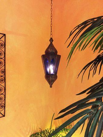 Oriental Hanging Lantern Lalita - Blue – image 6