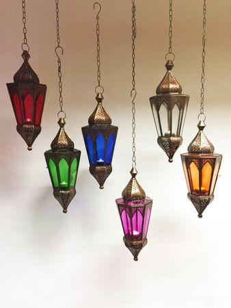Oriental Hanging Lantern Lalita - Green – image 3