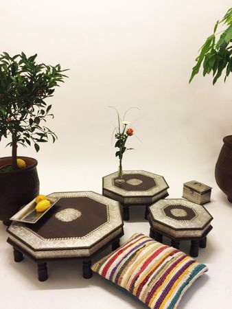 Indian Set of Tables Shobhana - 3 Pieces – image 1