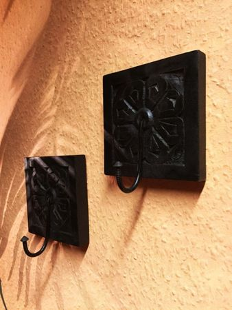 Set of 2 Indian handcarved coat Hook Sarala – image 5
