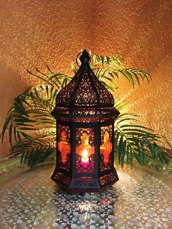 Oriental Indian Lantern Wifaq orange – image 3