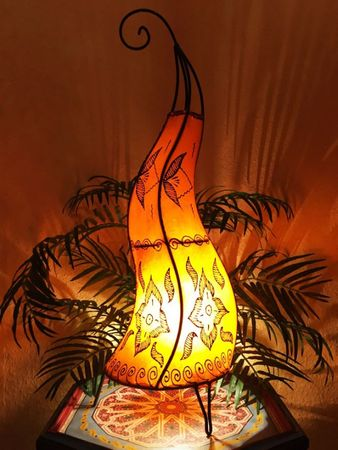 Floor Lamp Almina - orange 71cm – image 1