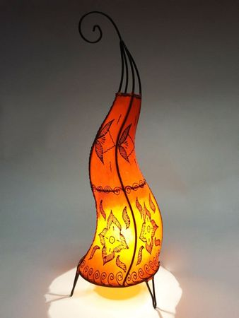 Floor Lamp Almina - orange 71cm – image 4
