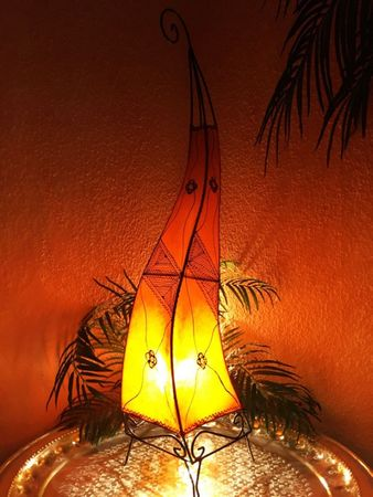 Floor Lamp Mehtap - orange 100cm – image 1
