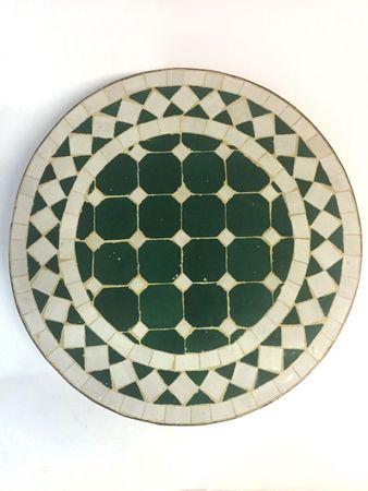 Mosaic table Marrakesch Green White, 40cm – image 1