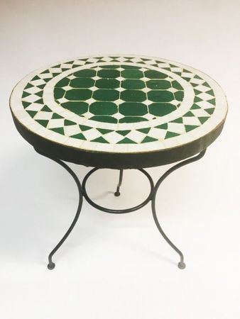 Mosaic table Marrakesch Green White, 40cm – image 2