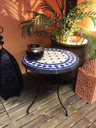 Mosaic table Marrakesch Nature Blue, 40cm – image 5